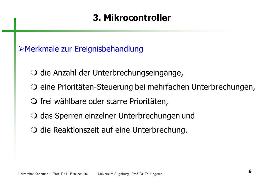 3. Mikrocontroller Merkmale zur Ereignisbehandlung