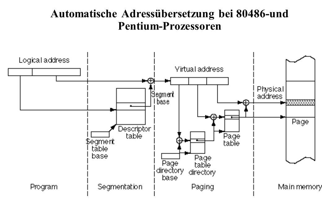 Automatische Adressübersetzung bei 80486-und Pentium-Prozessoren