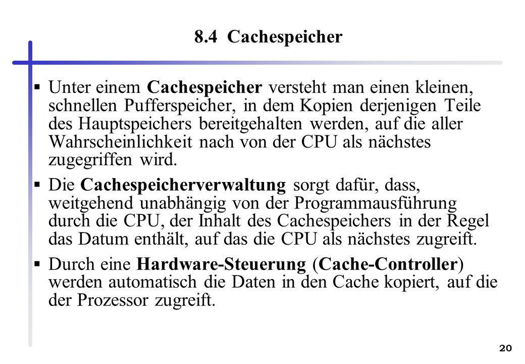 8.4 Cachespeicher