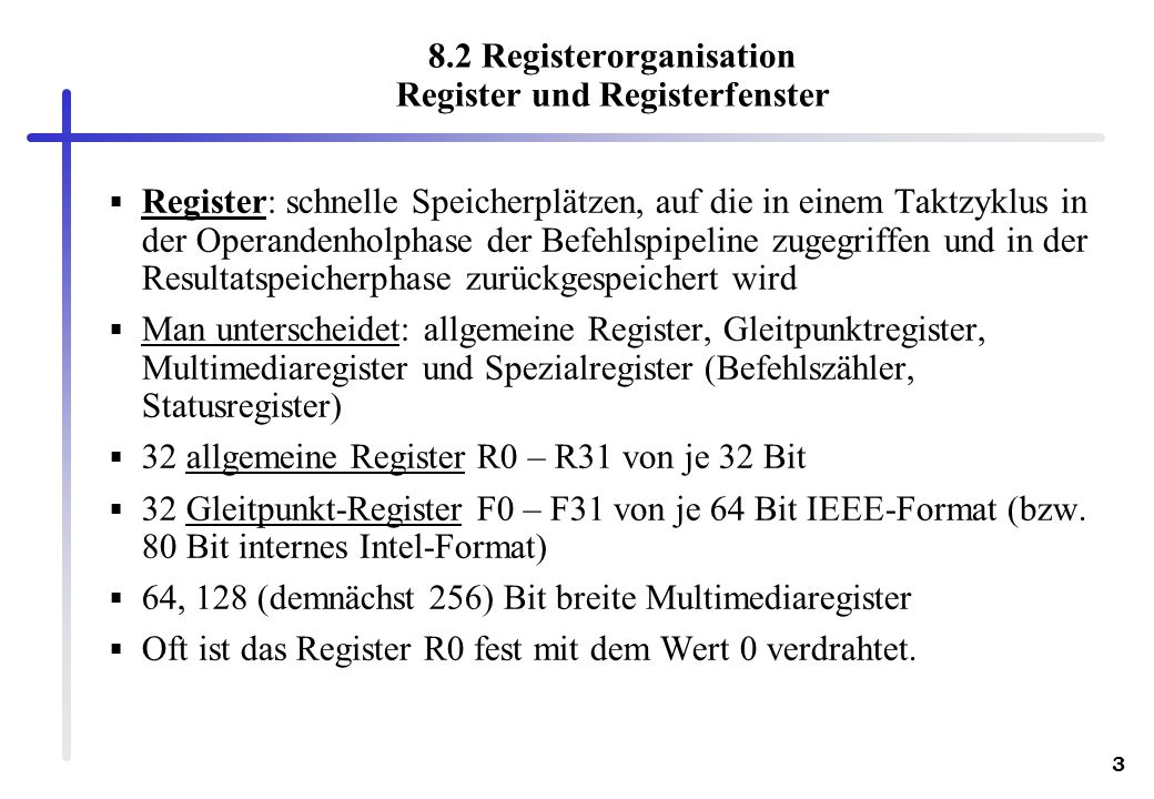 8.2 Registerorganisation Register und Registerfenster