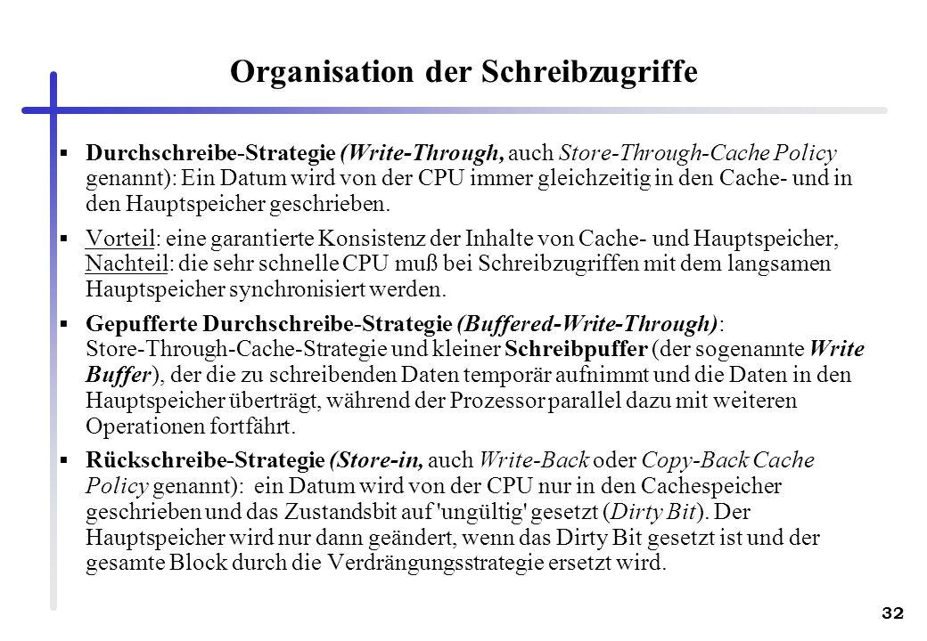 Organisation der Schreibzugriffe