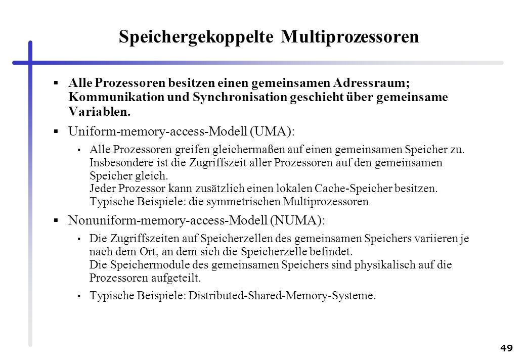 Speichergekoppelte Multiprozessoren