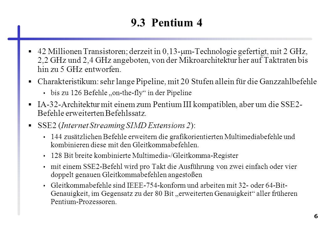 9.3 Pentium 4