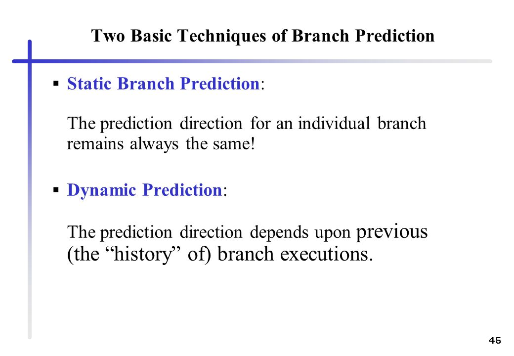 Two Basic Techniques of Branch Prediction