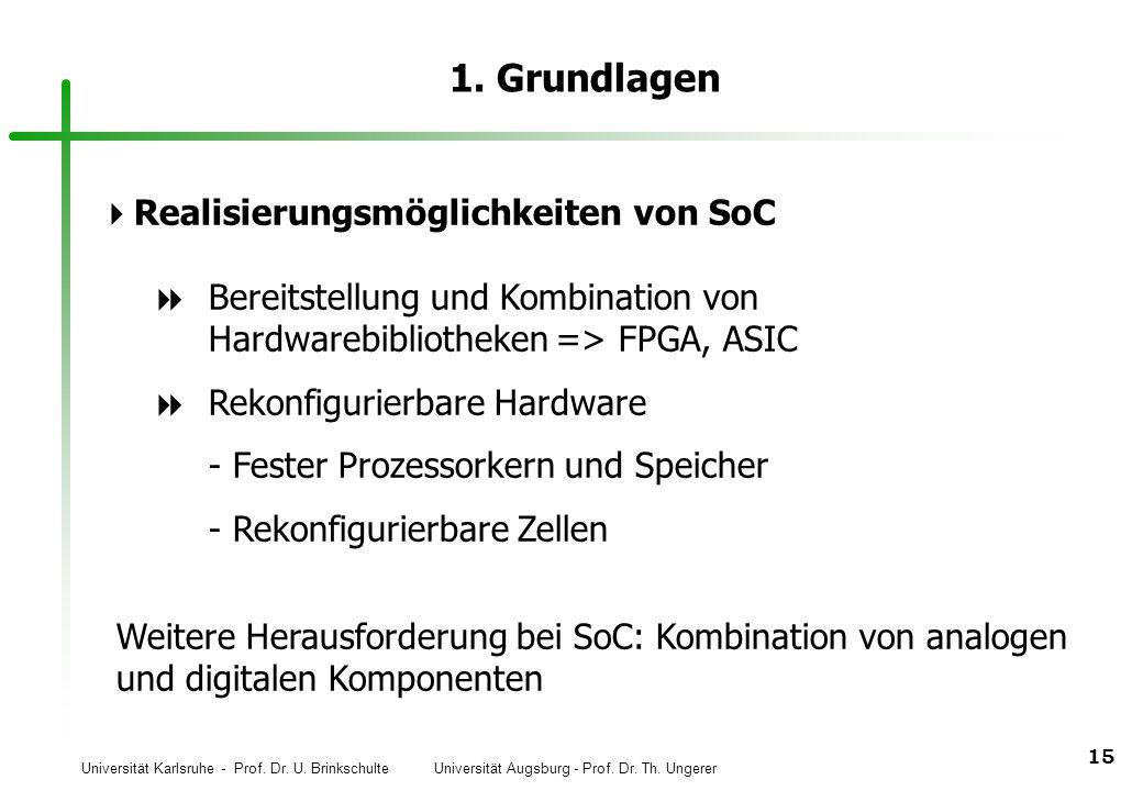 1. Grundlagen Realisierungsmöglichkeiten von SoC