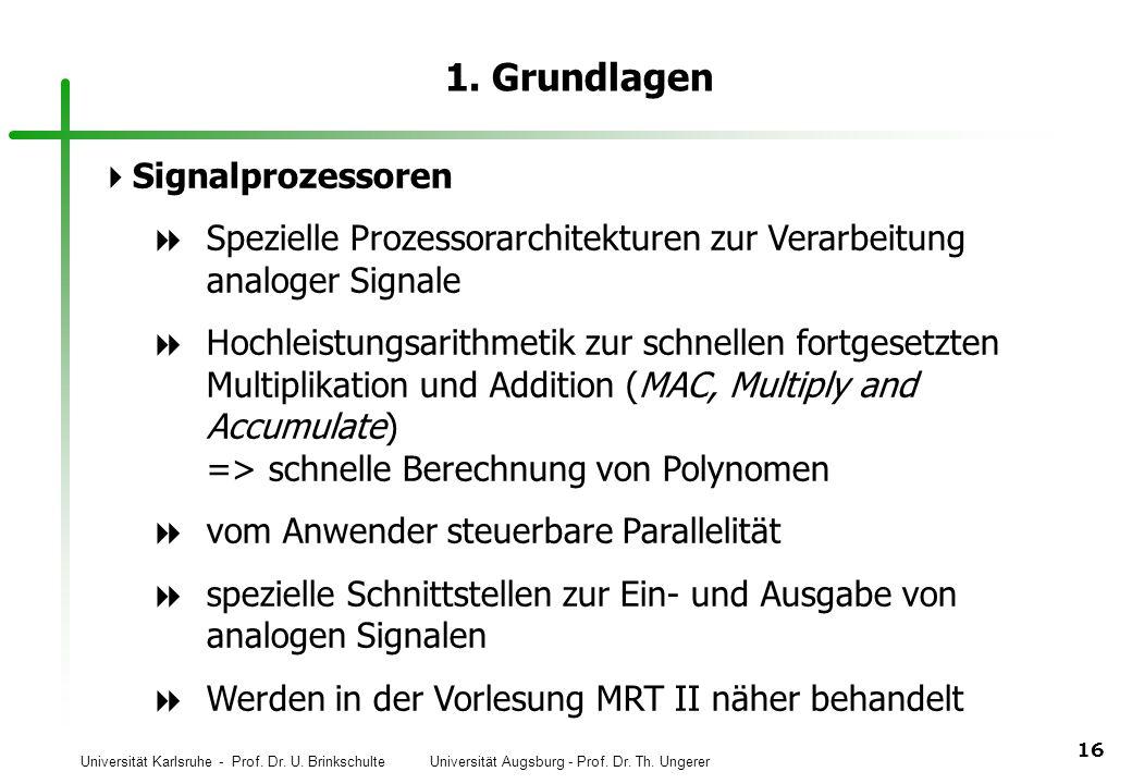 1. Grundlagen Signalprozessoren