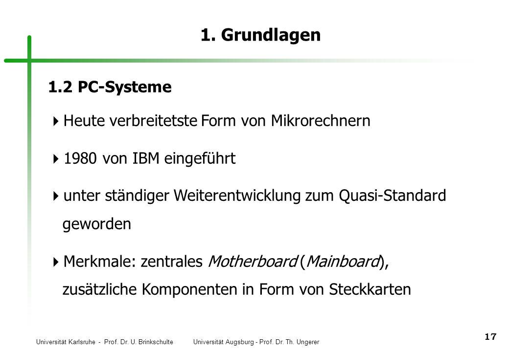 1. Grundlagen 1.2 PC-Systeme