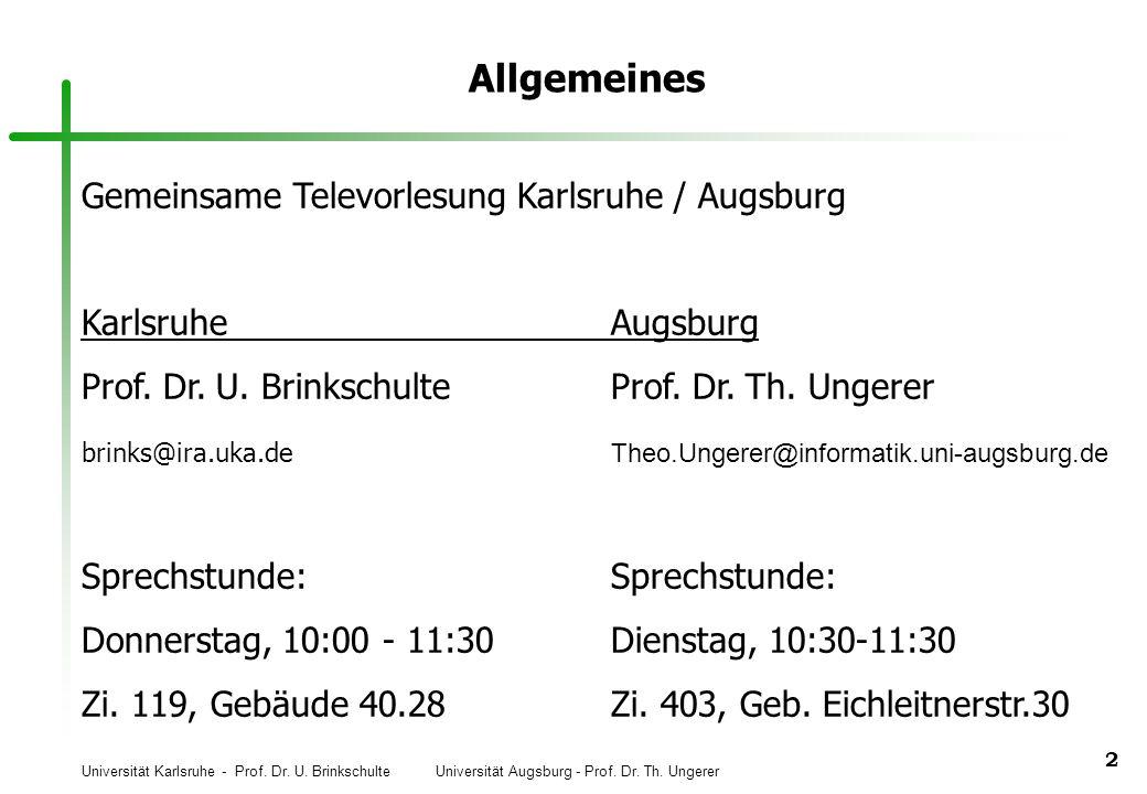 Allgemeines Gemeinsame Televorlesung Karlsruhe / Augsburg