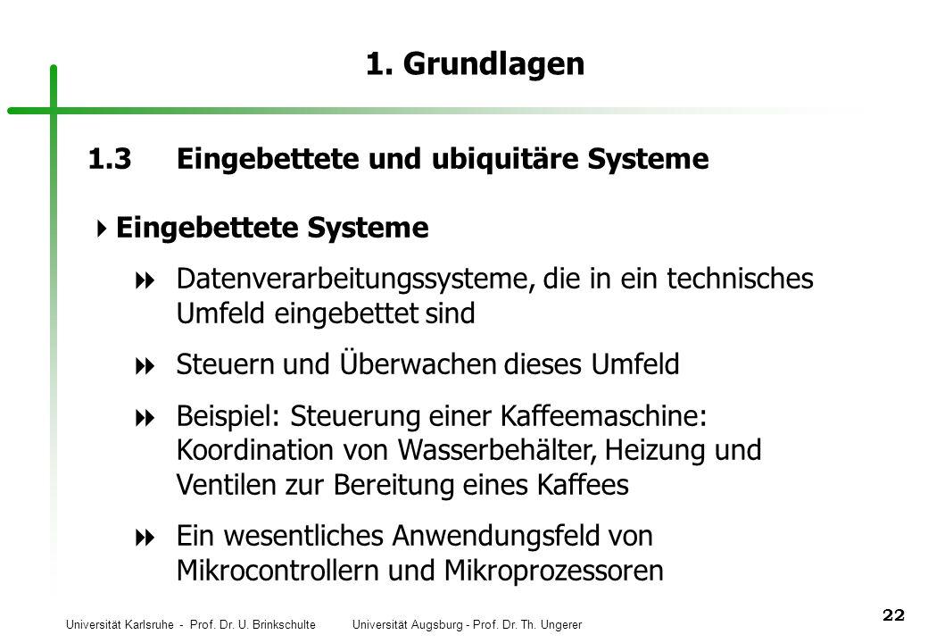 1. Grundlagen 1.3 Eingebettete und ubiquitäre Systeme