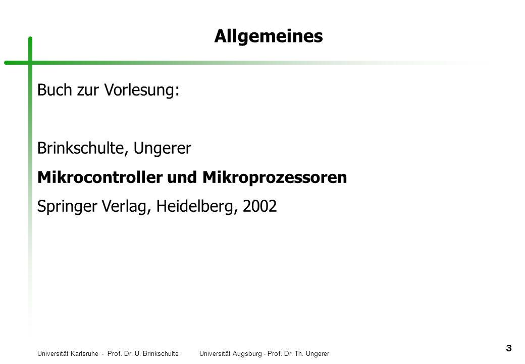 Allgemeines Buch zur Vorlesung: Brinkschulte, Ungerer