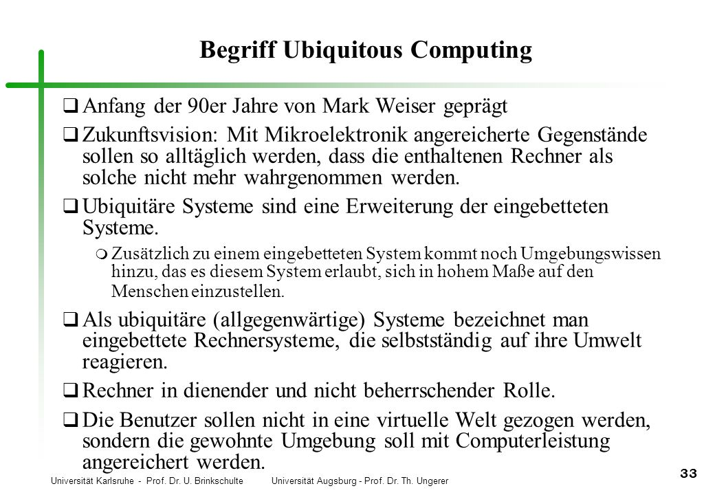 Begriff Ubiquitous Computing