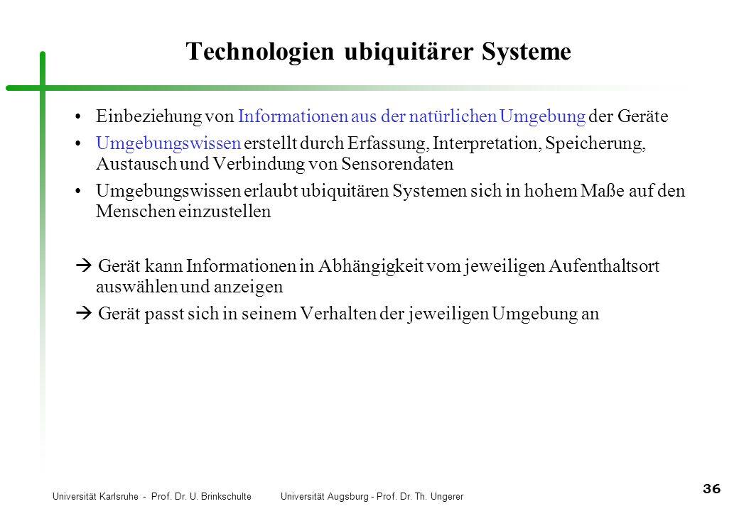 Technologien ubiquitärer Systeme