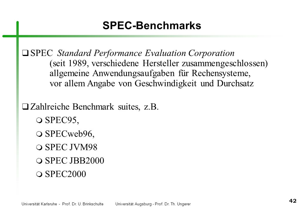 SPEC-Benchmarks