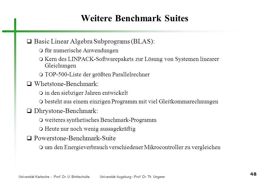 Weitere Benchmark Suites