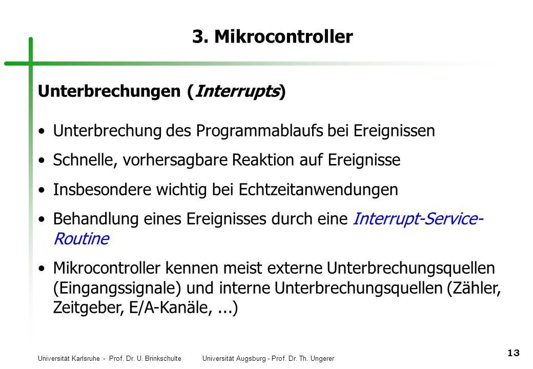 3. Mikrocontroller Unterbrechungen (Interrupts)