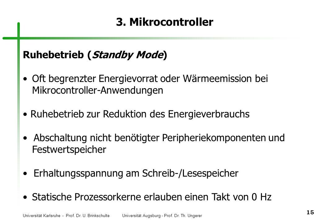3. Mikrocontroller Ruhebetrieb (Standby Mode)