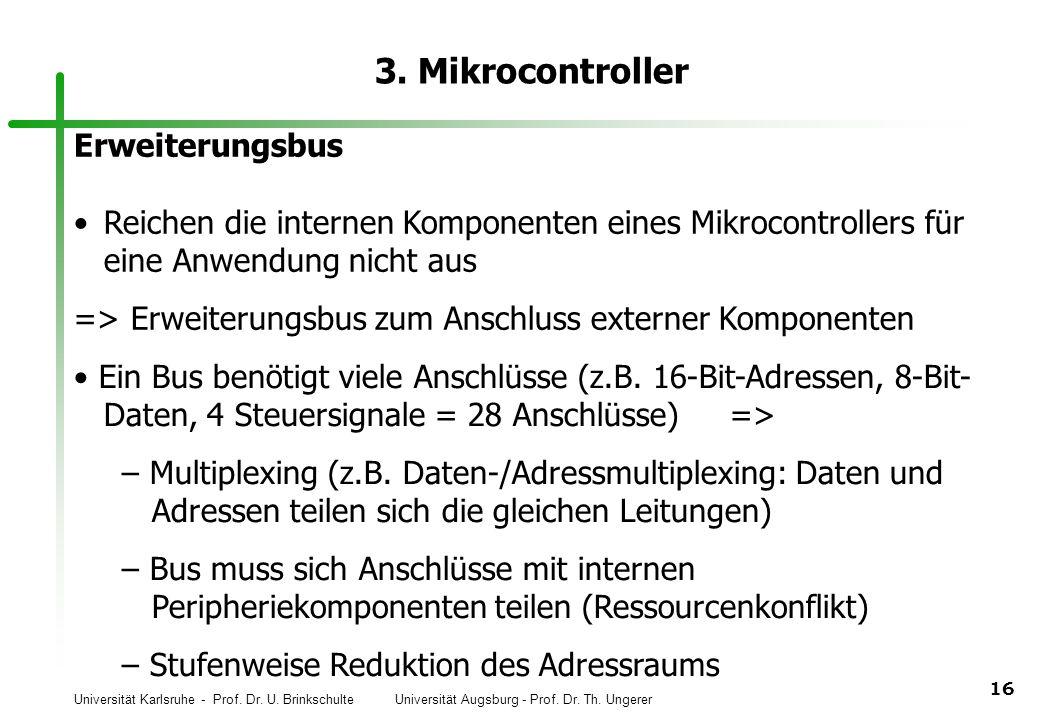 3. Mikrocontroller Erweiterungsbus