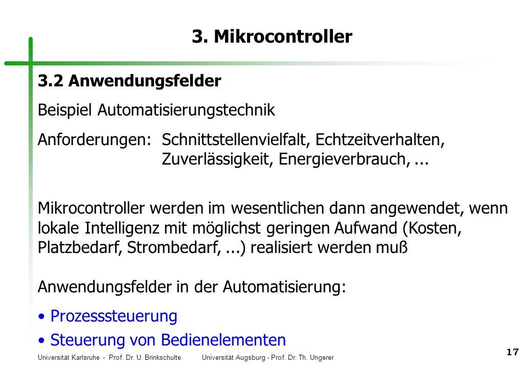 3. Mikrocontroller 3.2 Anwendungsfelder
