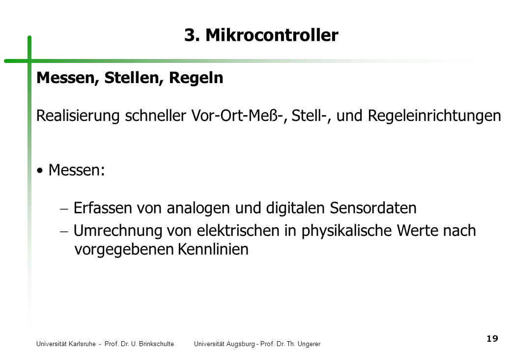 3. Mikrocontroller Messen, Stellen, Regeln