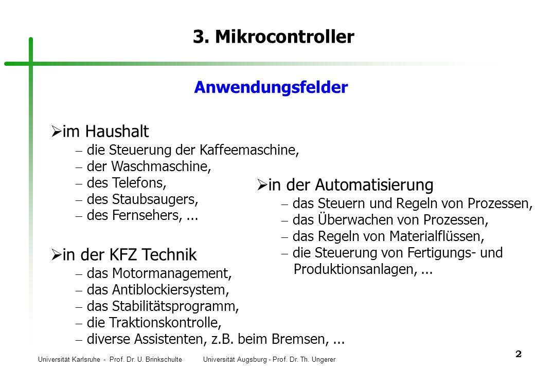 3. Mikrocontroller Anwendungsfelder im Haushalt in der Automatisierung