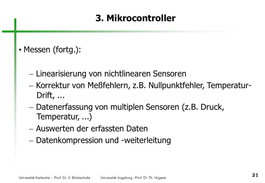 3. Mikrocontroller Messen (fortg.):