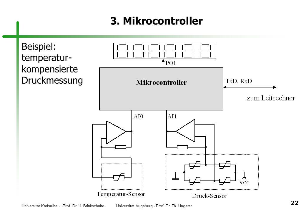 3. Mikrocontroller Beispiel: temperatur- kompensierte Druckmessung