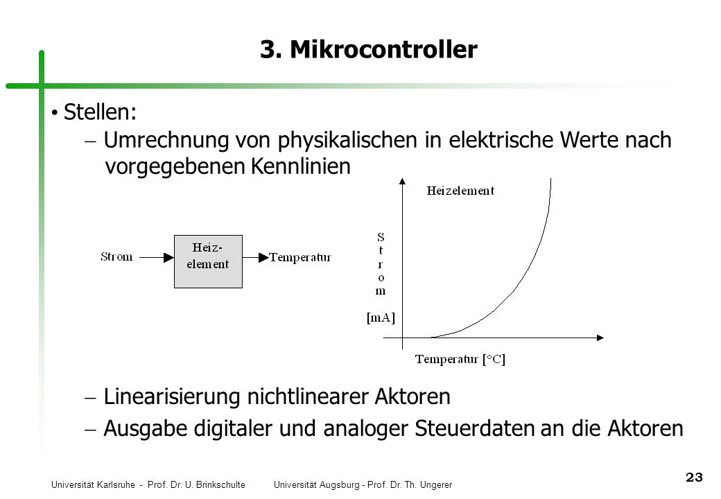 3. Mikrocontroller Stellen: