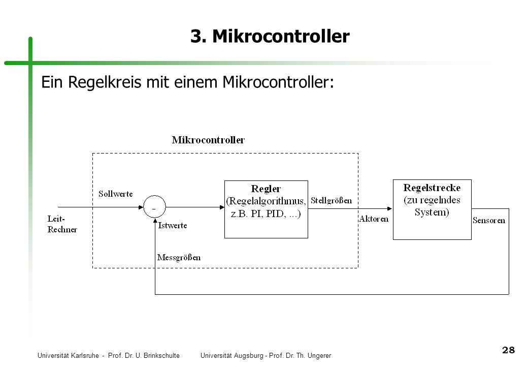 3. Mikrocontroller Ein Regelkreis mit einem Mikrocontroller: