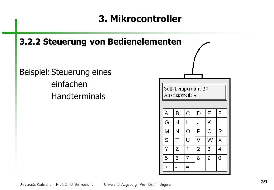 3. Mikrocontroller 3.2.2 Steuerung von Bedienelementen