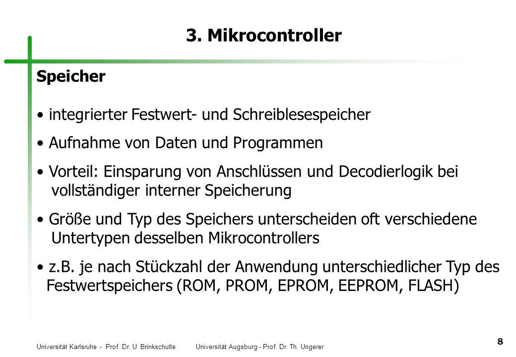 3. Mikrocontroller Speicher