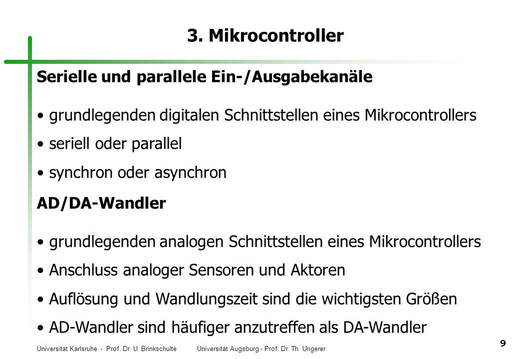 3. Mikrocontroller Serielle und parallele Ein-/Ausgabekanäle