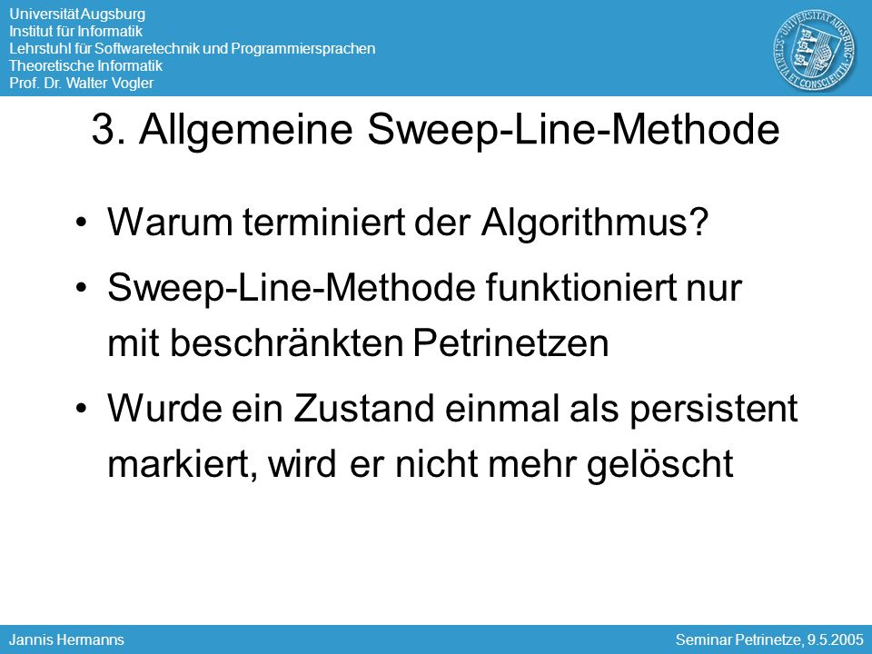 3. Allgemeine Sweep-Line-Methode