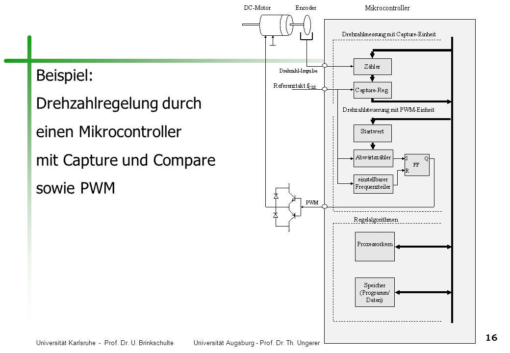 Beispiel: Drehzahlregelung durch einen Mikrocontroller mit Capture und Compare sowie PWM