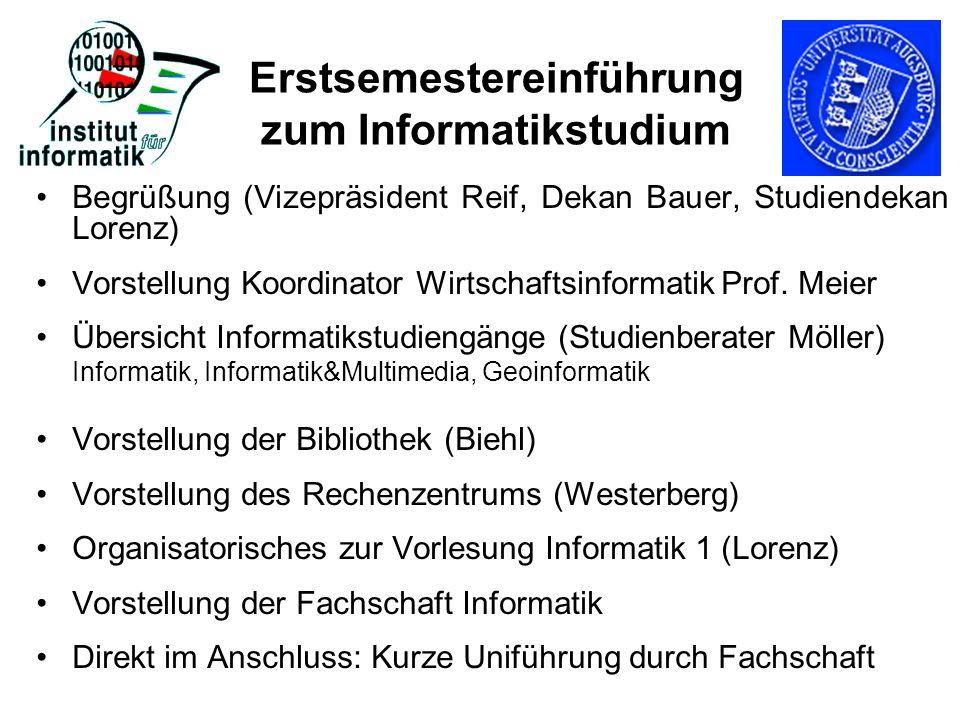 Erstsemestereinführung zum Informatikstudium