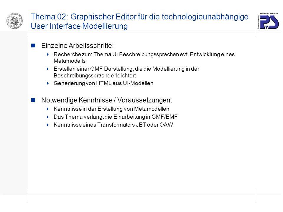 Thema 02: Graphischer Editor für die technologieunabhängige User Interface Modellierung