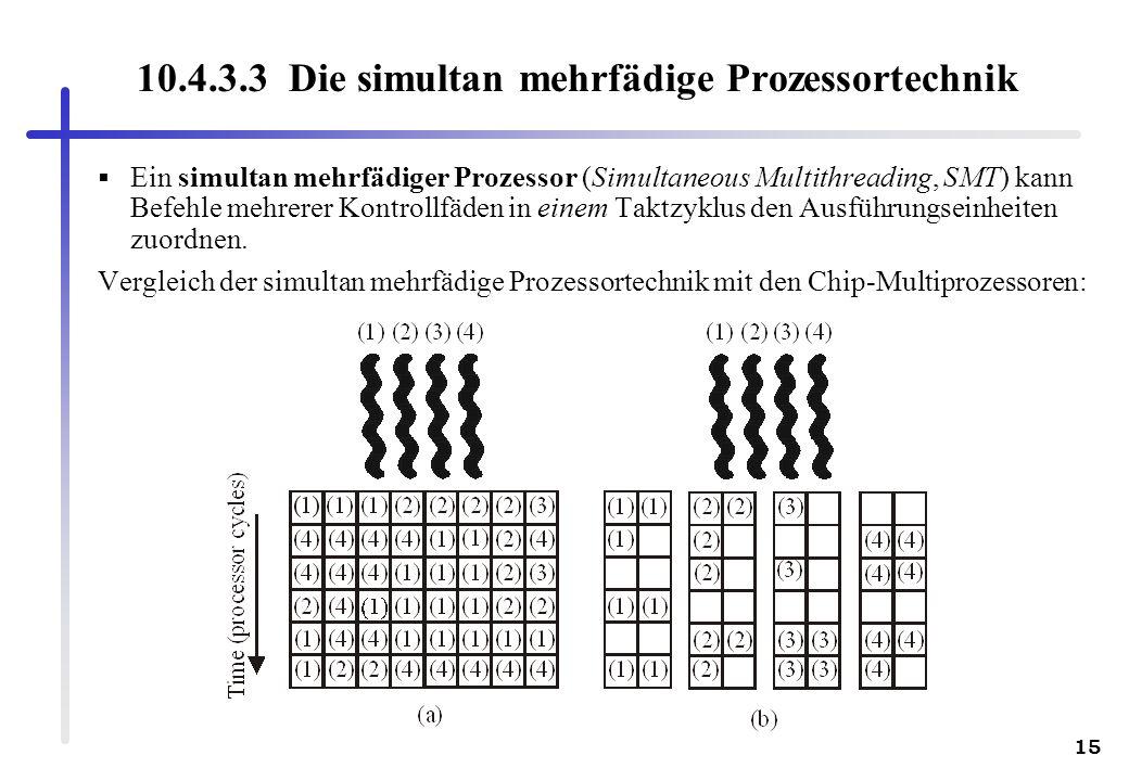 10.4.3.3 Die simultan mehrfädige Prozessortechnik