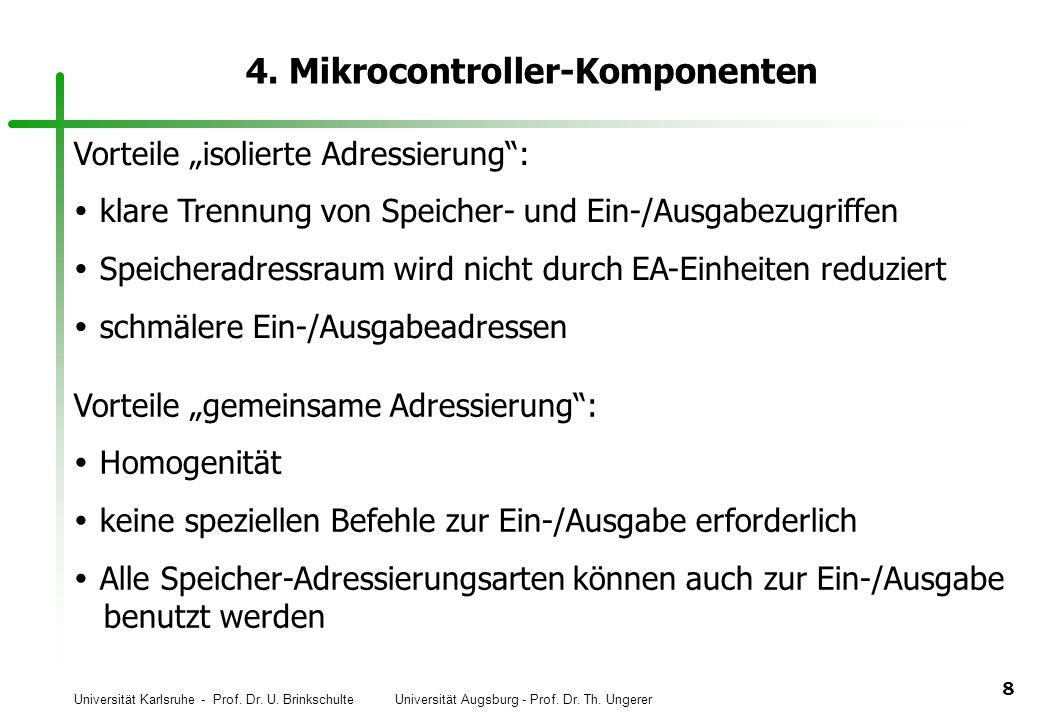 4. Mikrocontroller-Komponenten