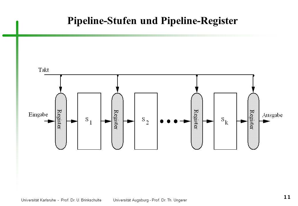 Pipeline-Stufen und Pipeline-Register
