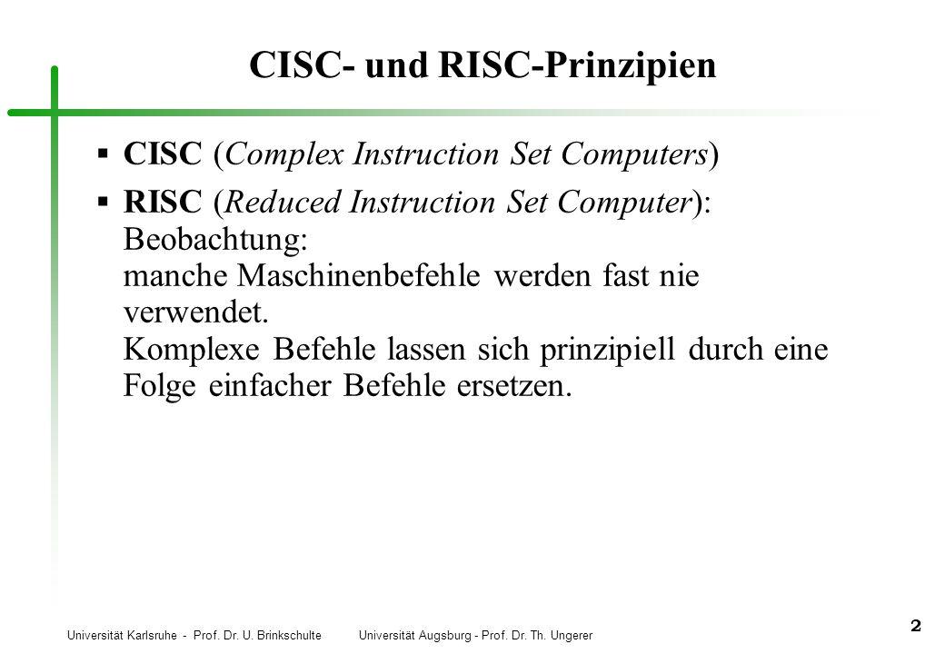 CISC- und RISC-Prinzipien