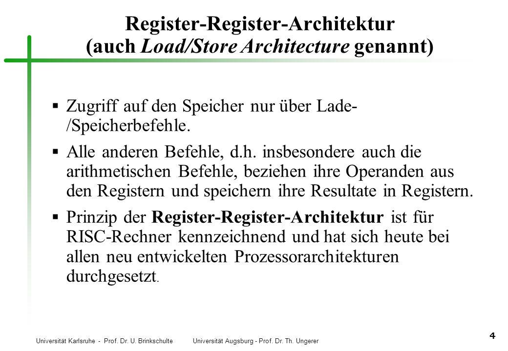Register-Register-Architektur (auch Load/Store Architecture genannt)