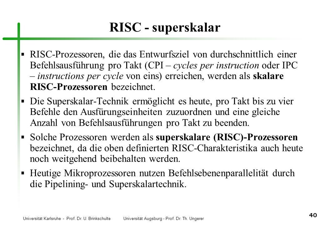 RISC - superskalar