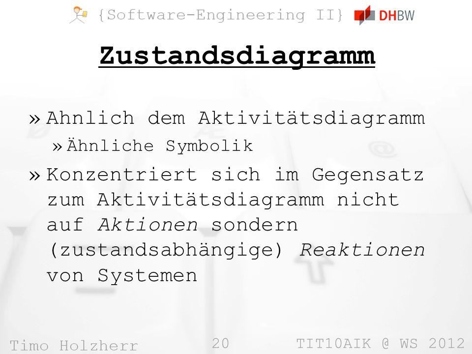 Zustandsdiagramm Ahnlich dem Aktivitätsdiagramm