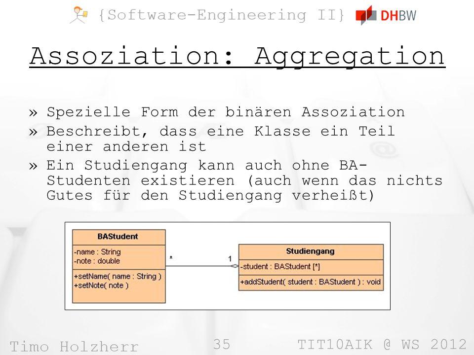 Assoziation: Aggregation