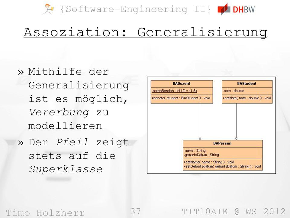 Assoziation: Generalisierung