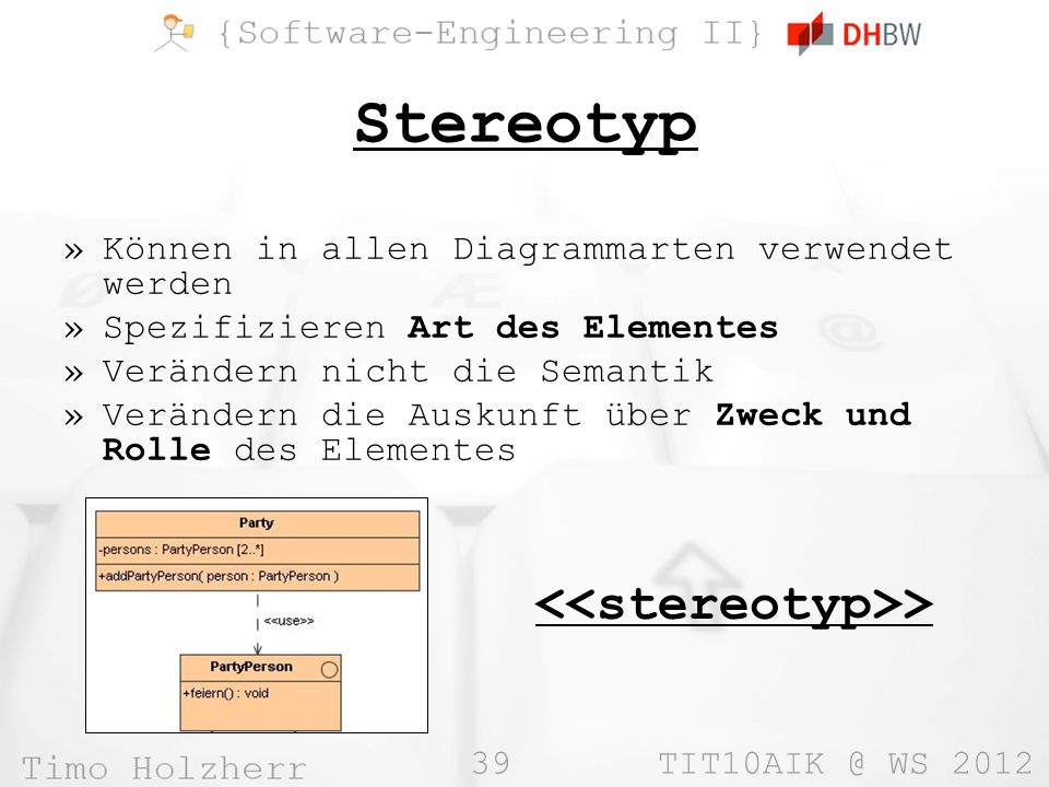 Stereotyp <<stereotyp>>