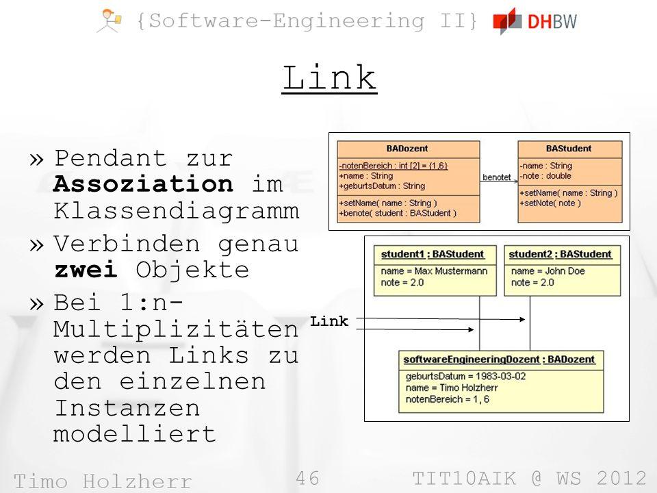 Link Pendant zur Assoziation im Klassendiagramm