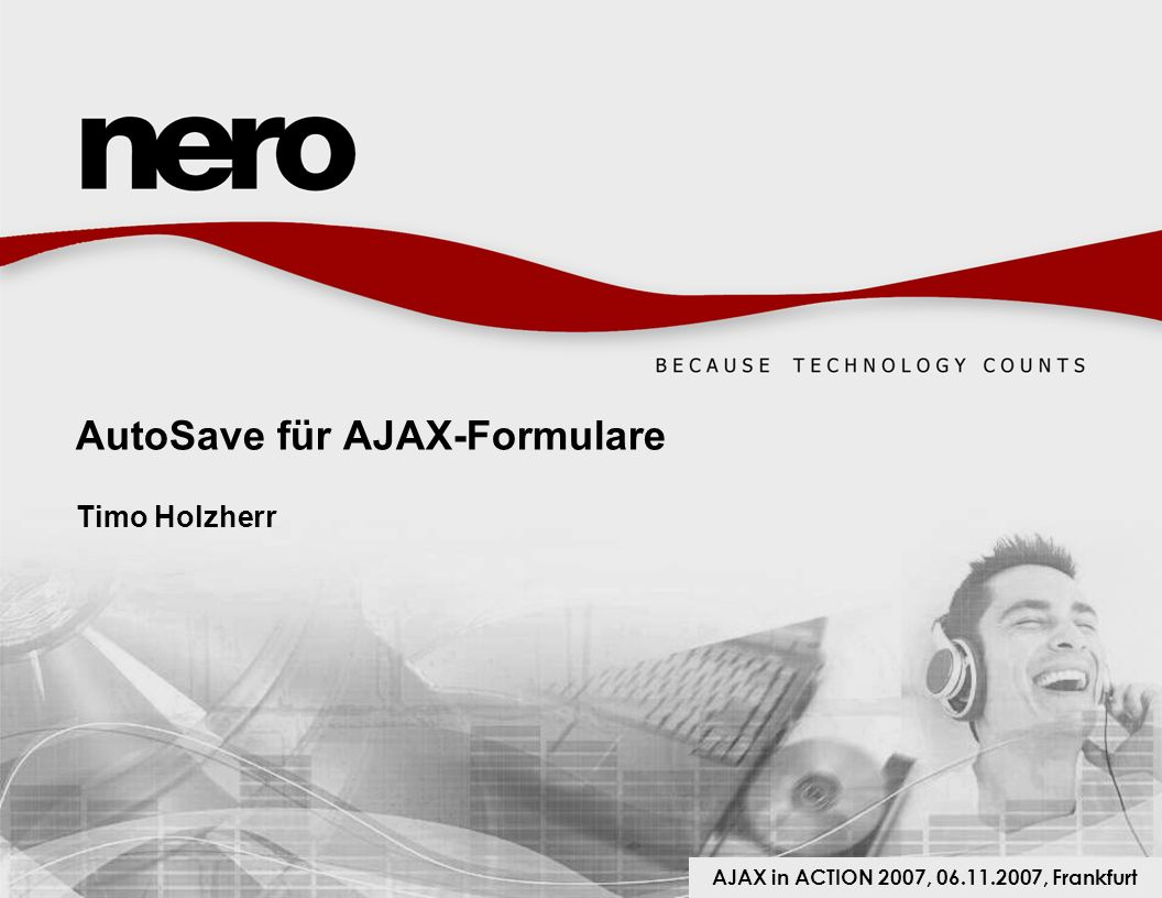 AutoSave für AJAX-Formulare Timo Holzherr