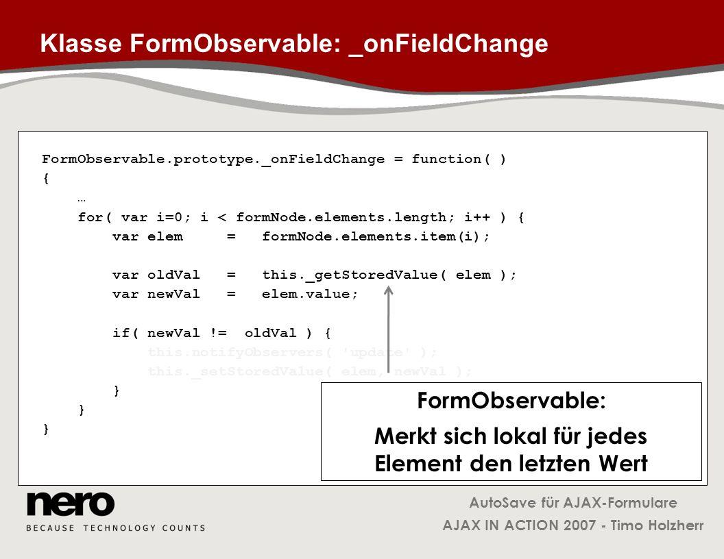 Klasse FormObservable: _onFieldChange