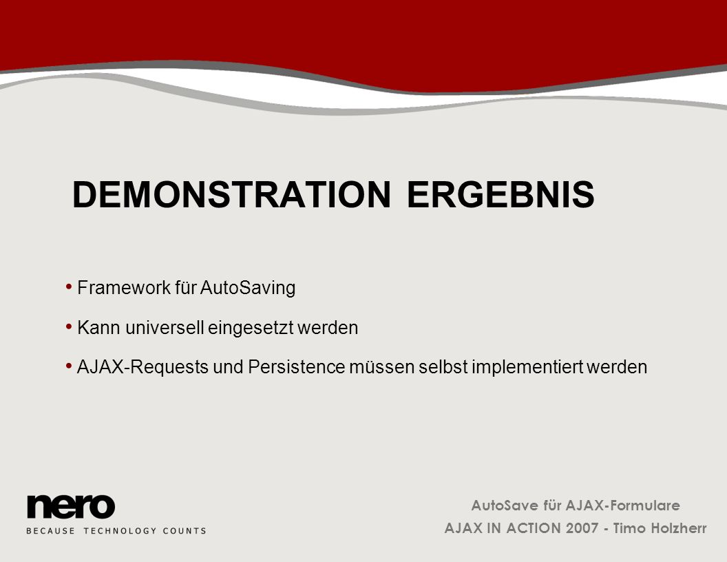 Demonstration Ergebnis