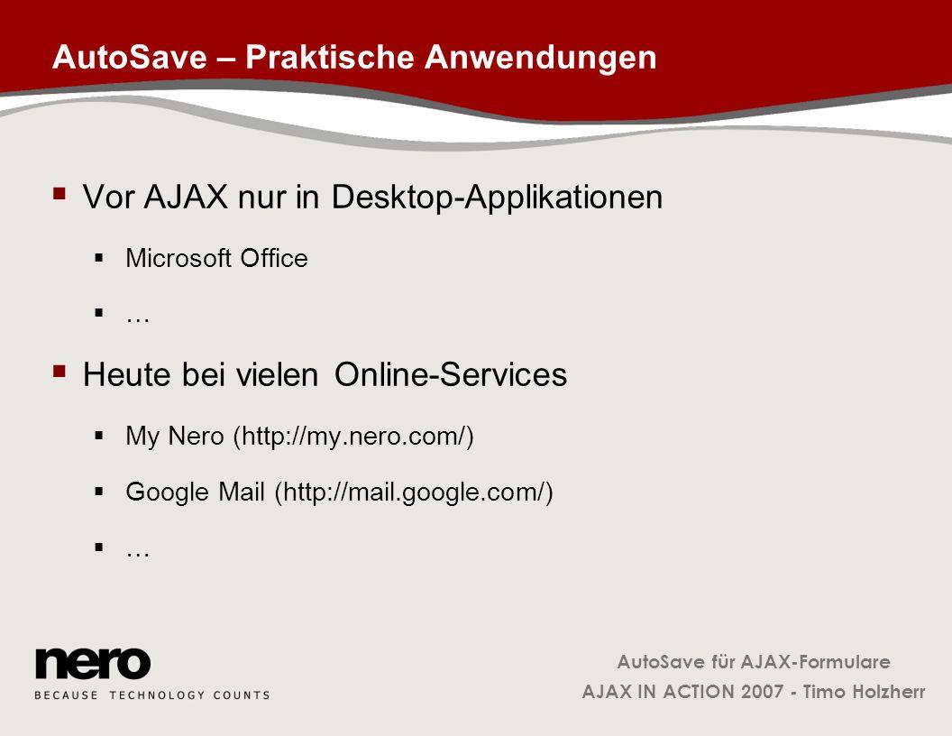 AutoSave – Praktische Anwendungen